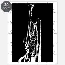 Abstract Trumpet Silhouette Puzzle
