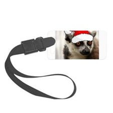 Christmas Lemur Luggage Tag