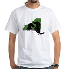 NYS Weim Rescue White T-Grn/Blk logo