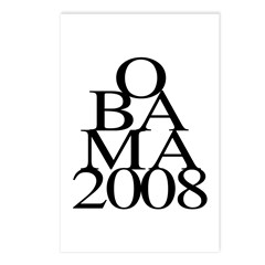Layers: Obama 2008 Postcards (Package of 8)