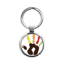 turkeyhand Round Keychain