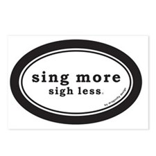 Sing More Sigh Less Bumbe Postcards (Package of 8)