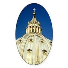 Dome of St. Peters Oval Decal