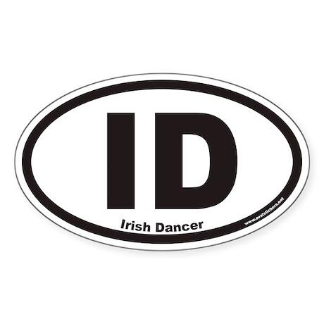 Irish Dancer ID Euro Oval Sticker