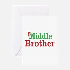 Christmas Middle Brother Greeting Cards