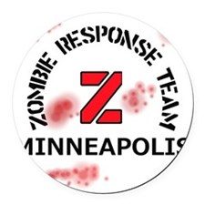 Zombie Response Team Minneapolis Round Car Magnet