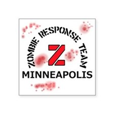 "Zombie Response Team Minnea Square Sticker 3"" x 3"""