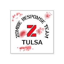 "Zombie Response Team Tulsa Square Sticker 3"" x 3"""
