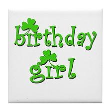 Irish Birthday Girl Tile Coaster
