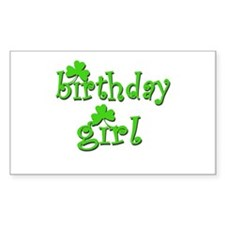 Irish Birthday Girl Rectangle Decal