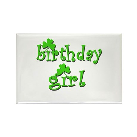 Irish Birthday Girl Rectangle Magnet
