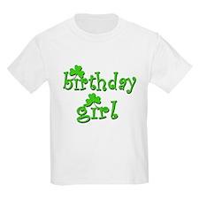 Irish Birthday Girl Kids T-Shirt