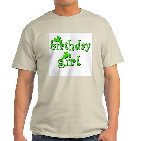 Irish Birthday Girl Ash Grey T-Shirt