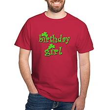 Irish Birthday Girl Dark Red T-Shirt
