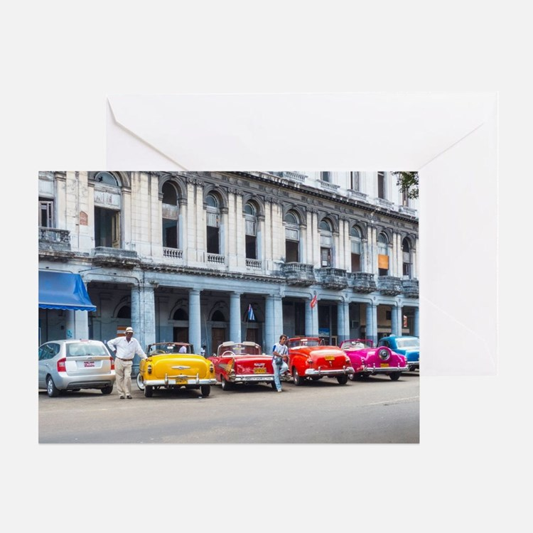 Cars of Havana Greeting Card