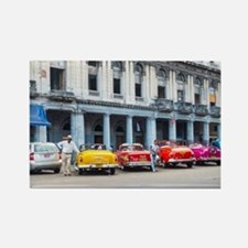 Cars of Havana Rectangle Magnet