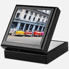 Cars of Havana Keepsake Box
