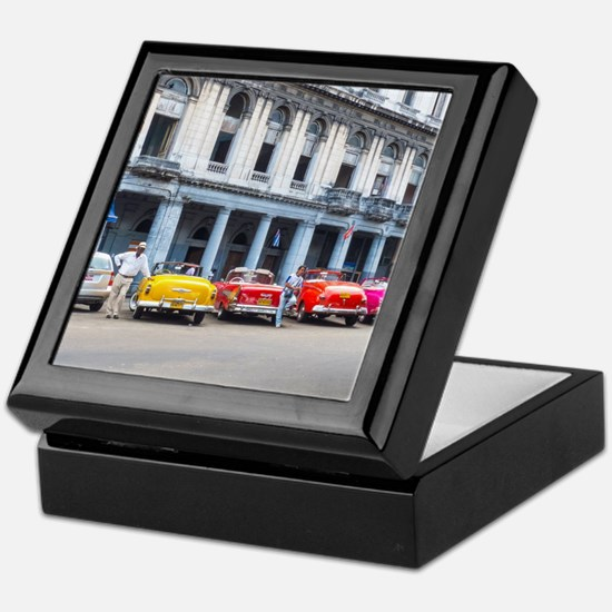 Cars of Havana Keepsake Box
