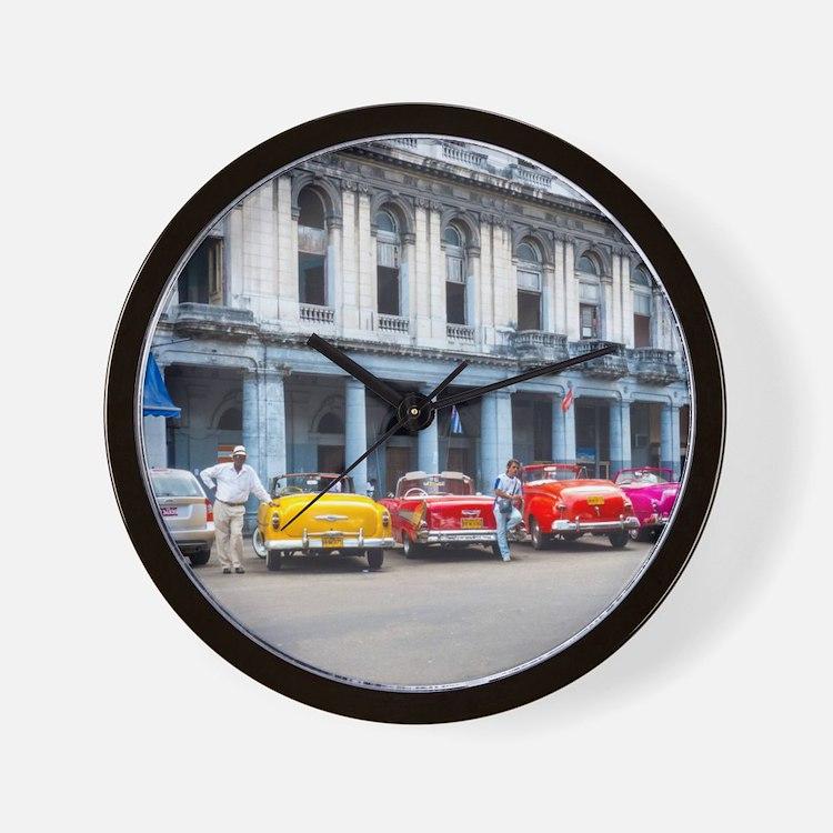 Cars of Havana Wall Clock