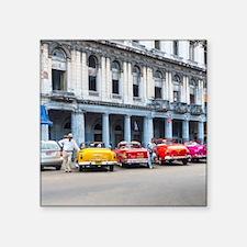 "Cars of Havana Square Sticker 3"" x 3"""