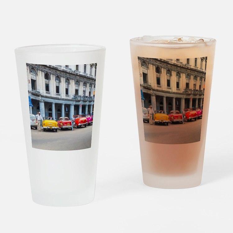 Cars of Havana Drinking Glass