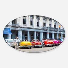 Cars of Havana Sticker (Oval)