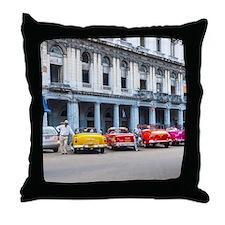 Cars of Havana Throw Pillow