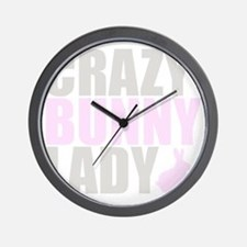 CRAZY BUNNY LADY 2 CLEAR copy Wall Clock