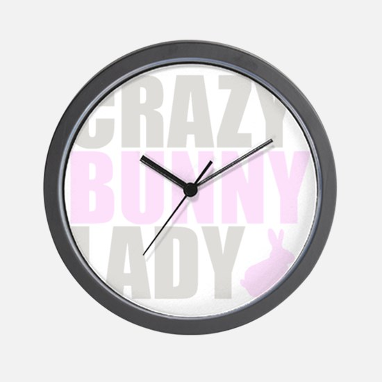 CRAZY BUNNY LADY 2 CLEAR copy Wall Clock