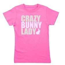 CRAZY BUNNY LADY 2 CLEAR copy Girl's Tee