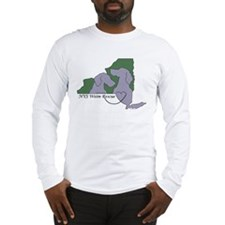 NYS Weim Rescue Long Sleeve T -Grn/Peri logo