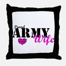 Army Wife Pink  Throw Pillow
