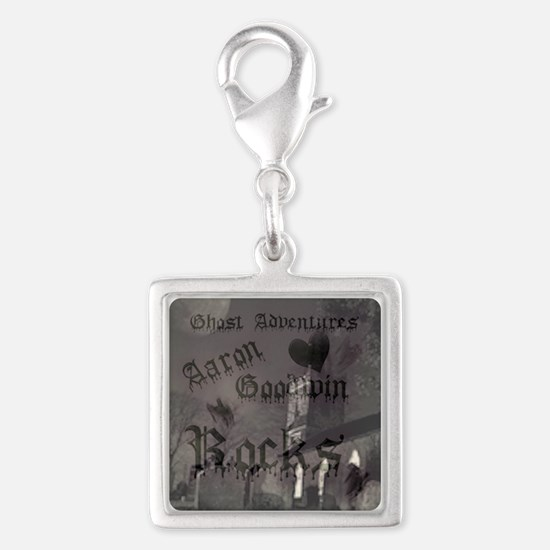 Ghost Adventures Silver Square Charm