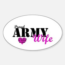 Army Wife Pink Oval Decal