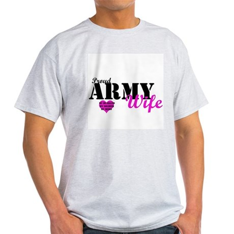 Army Wife Pink Ash Grey T-Shirt