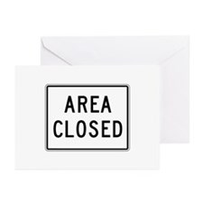 Area Closed - USA Greeting Cards (Pk of 10)