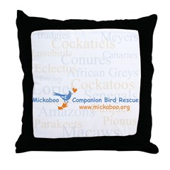 Background Species Throw Pillow
