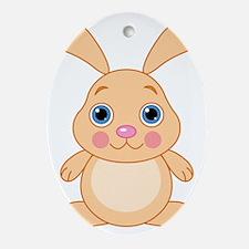 bunny1 Oval Ornament