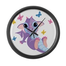 baby_dragon_01b Large Wall Clock