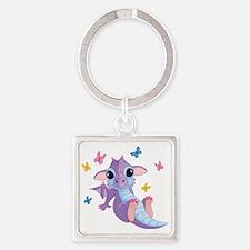 baby_dragon_01b Square Keychain