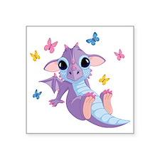"baby_dragon_01b Square Sticker 3"" x 3"""