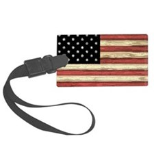 Woodcut US Flag note cards Luggage Tag