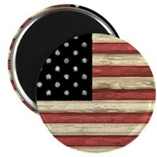Woodcut US Flag note cards Magnet