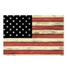 Woodcut US Flag note card Postcards (Package of 8)