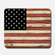 Woodcut US Flag note cards Mousepad
