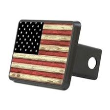 Woodcut US Flag note cards Hitch Cover