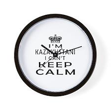 I Am Kazakhstani I Can Not Keep Calm Wall Clock