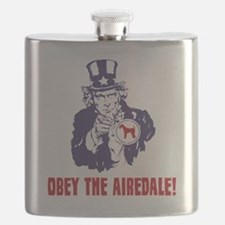 Airedale-Terrier18 Flask