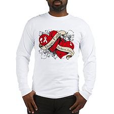 Scoliosis Hope Hearts Long Sleeve T-Shirt