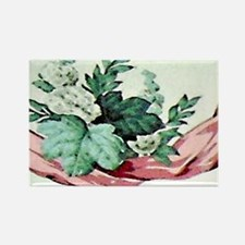 Floral Thank You note card (OXgra Rectangle Magnet